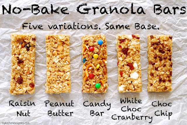 No Bake Granola Bars from Made from Pinterest